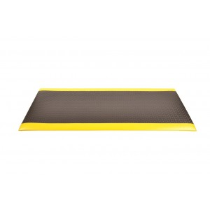 Notrax 417 Bubble Sof-Tred  w/ Dyna Shield  3'X4' - BLK/YELLOW