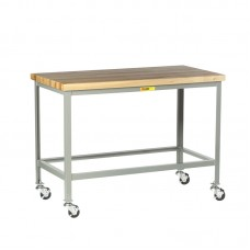 Little Giant Butcher Block Top Table Open Base WT-2436-3R, 24 x 36