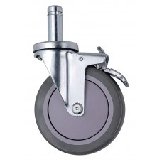 "Caster WR-00H Four Swivel 5"" Polyurethane Casters, 2 with brake"
