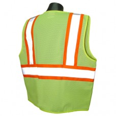 Radians SV22-2ZGM Class 2 Safety Vest (Mesh) Hi-Viz Green, Two-Tone Trim
