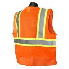 Radians SV22-2ZOM Class 2 Safety Vest (Mesh) Hi-Viz Orange, Two-Tone Trim